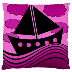 Boat   Magenta Standard Flano Cushion Case (two Sides) by Valentinaart