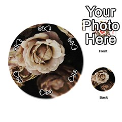 Roses Flowers Playing Cards 54 (round)  by vanessagf