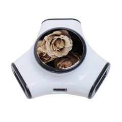 Roses Flowers 3 Port Usb Hub by vanessagf