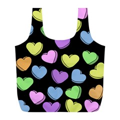 Valentine s Hearts Full Print Recycle Bags (l)  by BubbSnugg