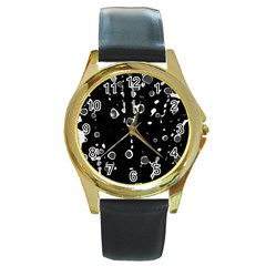 Old love Round Gold Metal Watch
