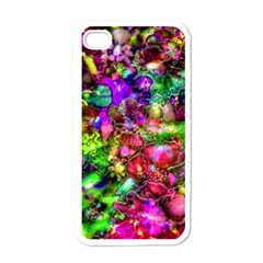 Pink Floral Abstract Apple Iphone 4 Case (white) by KirstenStar