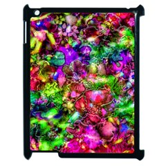 Pink Floral Abstract Apple Ipad 2 Case (black) by KirstenStar