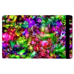 Pink Floral Abstract Apple Ipad 2 Flip Case by KirstenStar