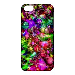 Pink Floral Abstract Apple Iphone 5c Hardshell Case by KirstenStar