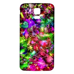 Pink Floral Abstract Samsung Galaxy S5 Back Case (white) by KirstenStar
