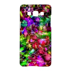 Pink Floral Abstract Samsung Galaxy A5 Hardshell Case  by KirstenStar