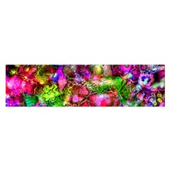 Pink Floral Abstract Satin Scarf (oblong) by KirstenStar