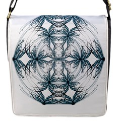 Mandala Blue And White Flap Messenger Bag (S) by vanessagf