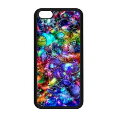 Blue Floral Abstract Apple Iphone 5c Seamless Case (black) by KirstenStar
