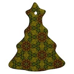 Camo Abstract Shell Pattern Ornament (christmas Tree) by TanyaDraws
