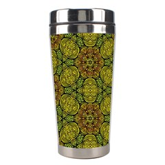 Camo Abstract Shell Pattern Stainless Steel Travel Tumblers by TanyaDraws