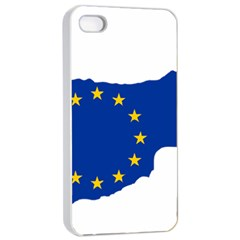 European Flag Map Of Cyprus  Apple Iphone 4/4s Seamless Case (white) by abbeyz71