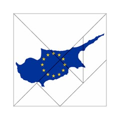 European Flag Map of Cyprus  Acrylic Tangram Puzzle (6  x 6 ) by abbeyz71