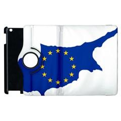 European Flag Map Of Cyprus  Apple Ipad 2 Flip 360 Case by abbeyz71