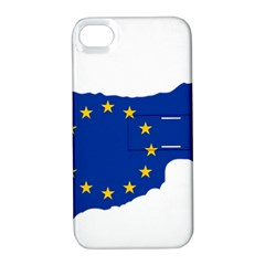 European Flag Map Of Cyprus  Apple Iphone 4/4s Hardshell Case With Stand by abbeyz71