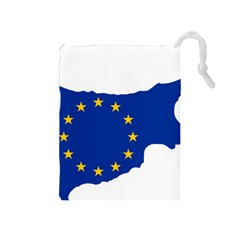 European Flag Map Of Cyprus  Drawstring Pouches (medium)  by abbeyz71