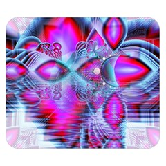 Crystal Northern Lights Palace, Abstract Ice  Double Sided Flano Blanket (small)  by DianeClancy