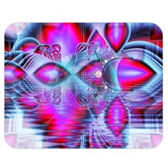 Crystal Northern Lights Palace, Abstract Ice  Double Sided Flano Blanket (medium)  by DianeClancy
