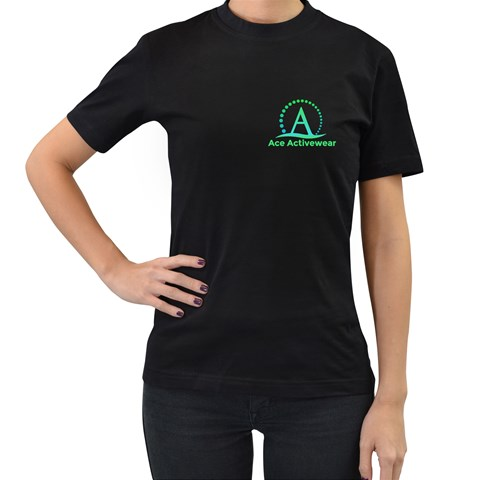 By Ace Acro   Women s T Shirt (black)   Nmkzpyb3g199   Www Artscow Com Front