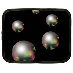 Silver Pearls Netbook Case (large) by Valentinaart