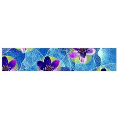 Purple Flowers Flano Scarf (small) by DanaeStudio
