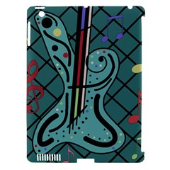Blue Guitar Apple Ipad 3/4 Hardshell Case (compatible With Smart Cover) by Valentinaart