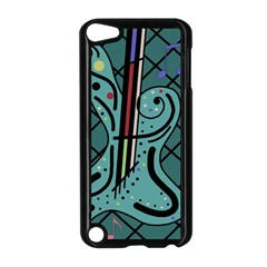 Blue Guitar Apple Ipod Touch 5 Case (black) by Valentinaart