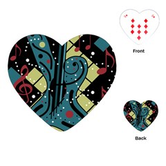 Playful Guitar Playing Cards (heart)  by Valentinaart
