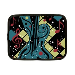 Playful Guitar Netbook Case (small)  by Valentinaart