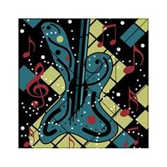 Playful Guitar Acrylic Tangram Puzzle (6  X 6 ) by Valentinaart