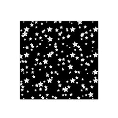 Black And White Starry Pattern Satin Bandana Scarf by DanaeStudio