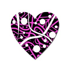 Purple Harmony Heart Magnet by Valentinaart