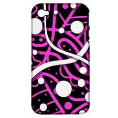 Purple Harmony Apple Iphone 4/4s Hardshell Case (pc+silicone) by Valentinaart