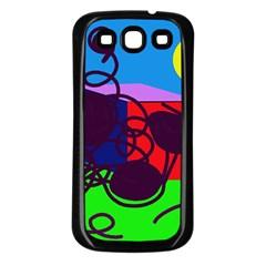 Sunny Day Samsung Galaxy S3 Back Case (black) by Valentinaart