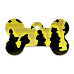 Khazar s Dream  Dog Tag Bone (one Side) by Valentinaart
