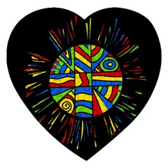 Colorful Bang Jigsaw Puzzle (heart) by Valentinaart