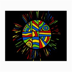Colorful Bang Small Glasses Cloth (2 Side) by Valentinaart