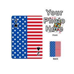 Usa Flag Playing Cards 54 (Mini)  by stockimagefolio