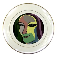 Lady Porcelain Plates by Valentinaart