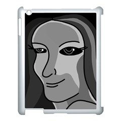 Lady   Gray Apple Ipad 3/4 Case (white) by Valentinaart
