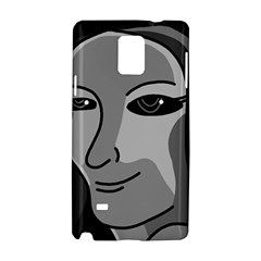Lady   Gray Samsung Galaxy Note 4 Hardshell Case by Valentinaart