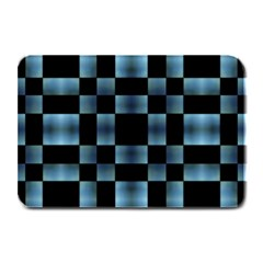Checkboard Pattern Print Plate Mats by dflcprints