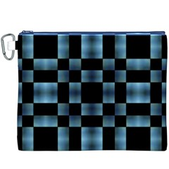 Checkboard Pattern Print Canvas Cosmetic Bag (XXXL) by dflcprints