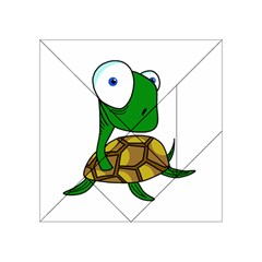 Turtle Acrylic Tangram Puzzle (4  X 4 ) by Valentinaart