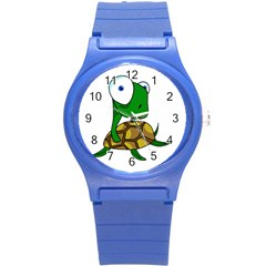 Turtle Round Plastic Sport Watch (s) by Valentinaart