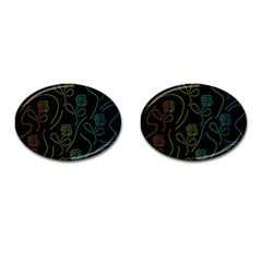 Floral Pattern Cufflinks (oval) by Valentinaart