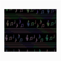 Music Pattern Small Glasses Cloth (2 Side) by Valentinaart
