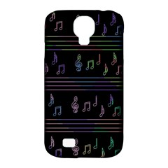 Music Pattern Samsung Galaxy S4 Classic Hardshell Case (pc+silicone) by Valentinaart