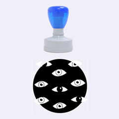 Look At Me Rubber Round Stamps (medium) by Valentinaart